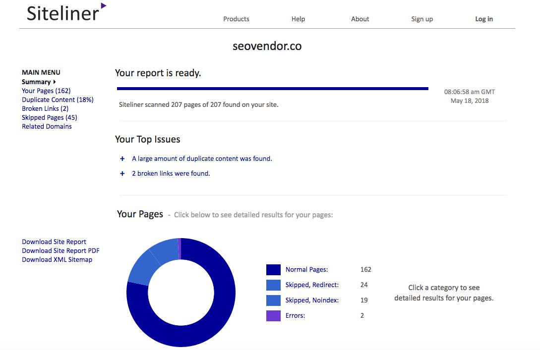 Siteliner_report